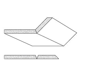 Rigips Faltelemente, 2 x V-Fräsung, unverleimt