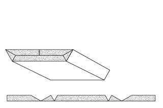 Rigips Faltelemente, 4 x V-Fräsung, unverleimt