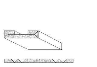 Rigips Faltelemente, 4 x V-Fräsung 90° oben, unverleimt