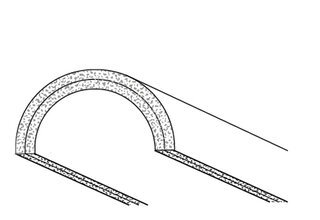 Rigips Halbschale, 2 x 6 GK-Form