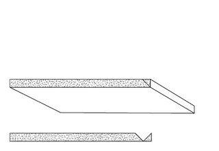 Rigips Faltelemente, 1 x V-Fräsung 90°, verleimt, kartonummantelte Kante