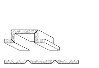 Rigips Faltelemente, 4 x V-Fräsung 90° oben/unten, unverleimt