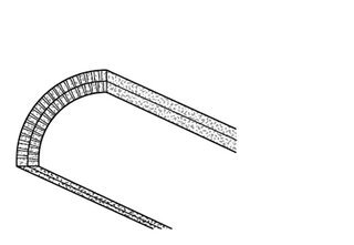 Rigips Viertelschale, 2 x 12,5 Rigips Bauplatte RB