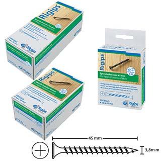 Rigips Spezialschrauben 45 mm, für Rigips-Platten auf Holz