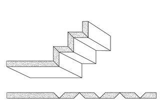 Rigips Faltelemente, 5 x V-Fräsung 90°, unverleimt