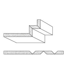 Rigips Faltelemente, 3 x V-Fräsung 90° oben/unten, unverleimt